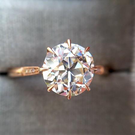 1.92ct Old European Cut Diamond,  GIA K VS2, Margot Solitaire