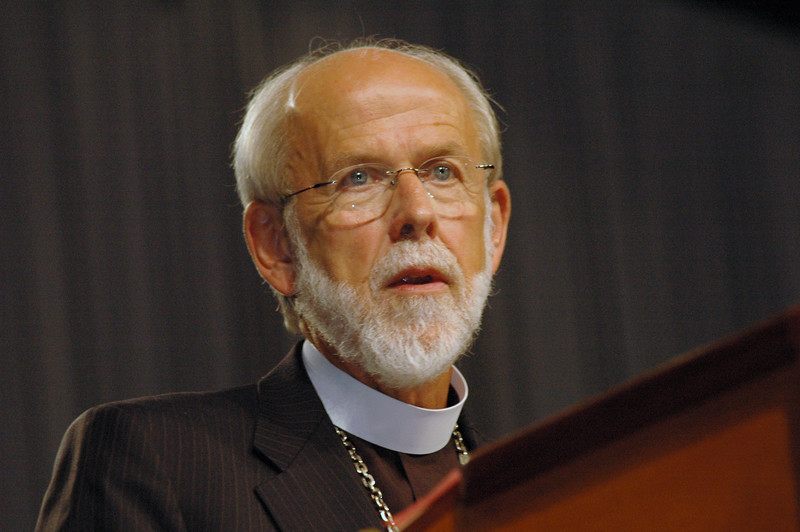 Presiding Bishop Mark S. Hanson chairs the Quasi-Committee of the Whole to discussion on human sexuality.