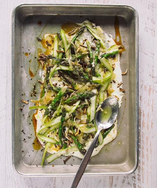 roasted asparagus whipped ricotta honey flatlay header.jpg