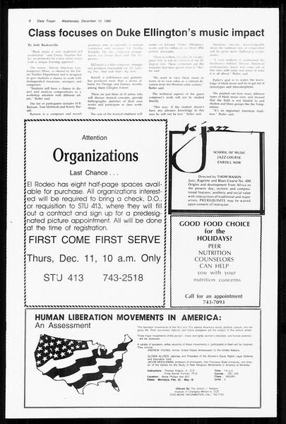 Daily Trojan, Vol. 89, No. 56, December 10, 1980