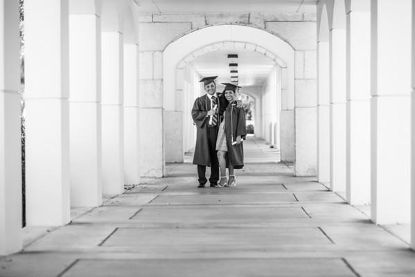 Kenia and Michael Graduation Portrait