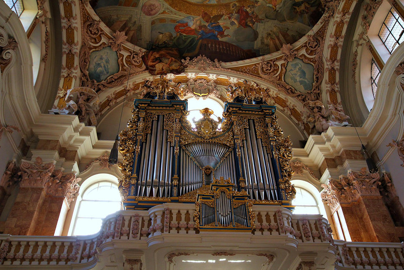organ at St. James Cathedral, Innsbruck, Austria.