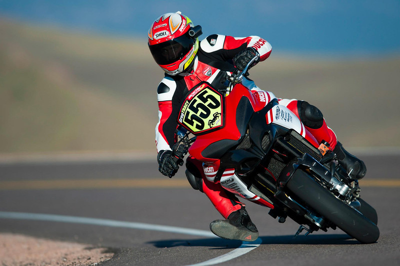 3/9: 2012 -The Ducati Multistrada 1200 S Pikes Peak wins for the 3rd year in succession.