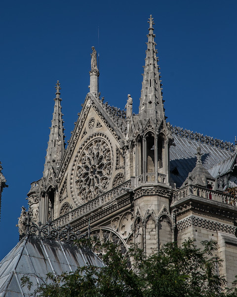 Paris, Notre-Dame Cathedral South Transept Gable