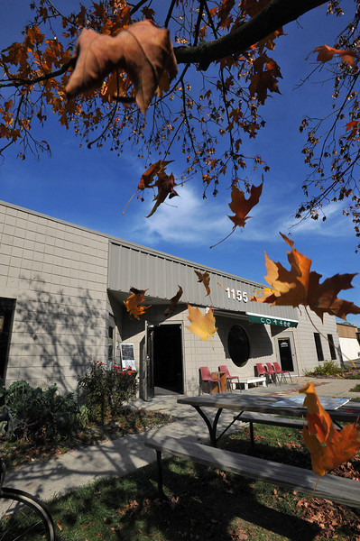 It's fall at Roos Roast on Rosewood in A2.  Time just keeps tick tickin' away.