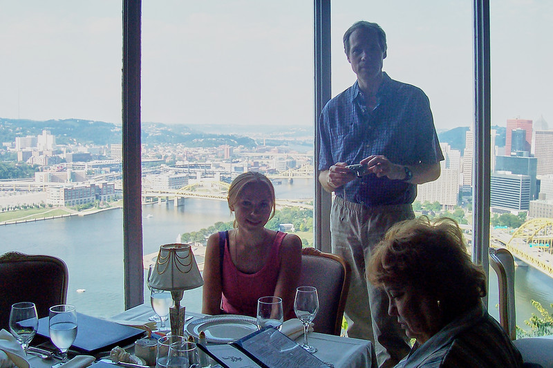 Dinner with the Lebins at LeMont restaurant in Pittsburgh PA - Annie, FL, Shirley.