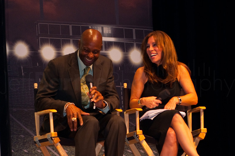 Jerry Rice and ESPN Reporter