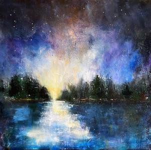 """Star Gazing"" (acrylic) by Lindalee Holnes"