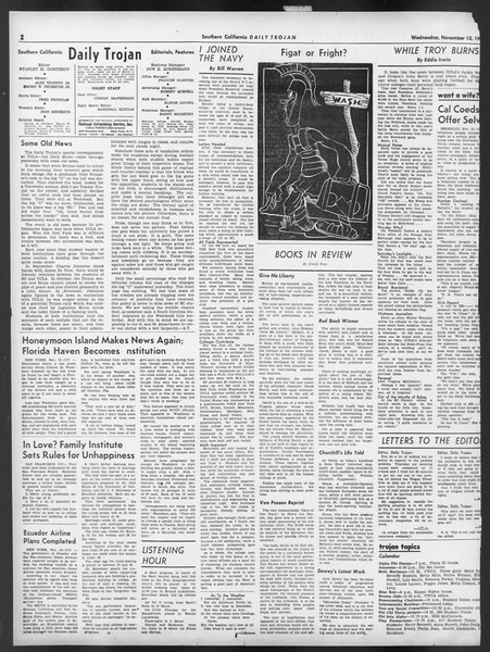 Daily Trojan, Vol. 32, No. 42, November 13, 1940