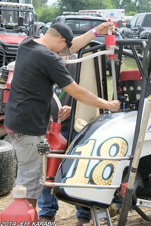 Indiana Sprint Week Kokomo 7/12/14 Jeff Karabin