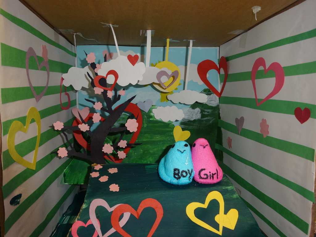 """. \""""Peeps in Love,\"""" by Pa Soua Vue, a 1-th-grader at Humboldt High School in St. Paul"""