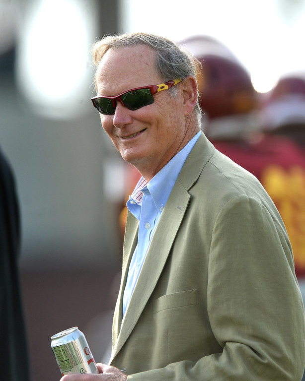 . USC athletic director Pat Haden attends the football practice, Tuesday, March 25, 2014, at USC. (Photo by Michael Owen Baker/L.A. Daily News)