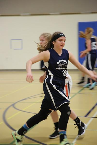 BHS J-Varsity Girls Basketball Feb 26, 2016