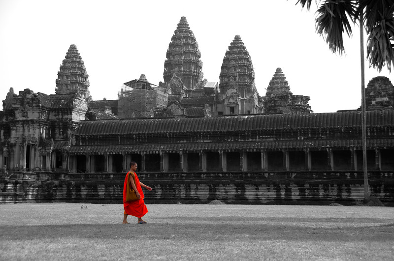 Buddhist Monk, Angkor Wat, Cambodia