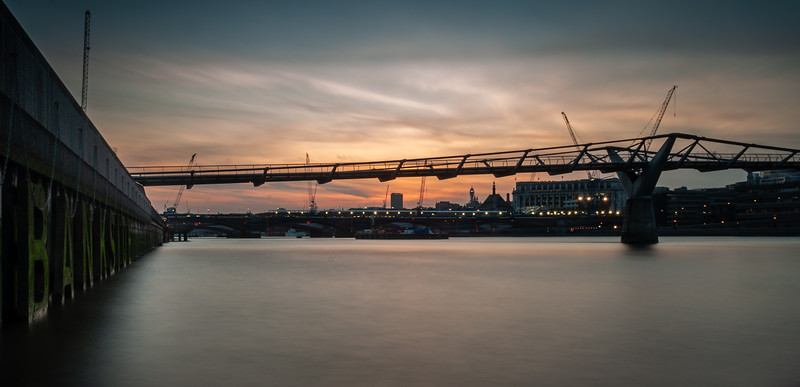 Millennium Bridge sunset