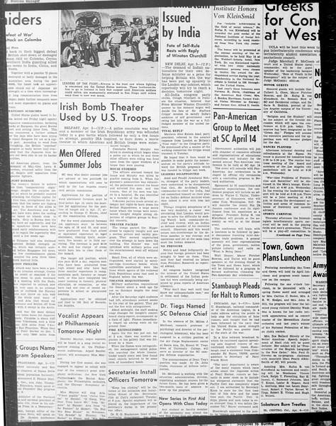 Daily Trojan, Vol. 33, No. 101, January 30, 1942