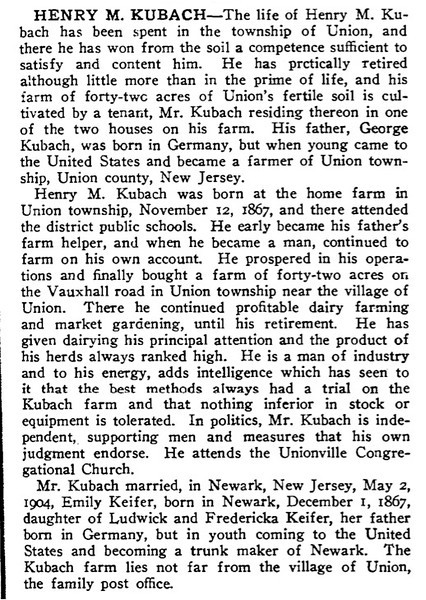 Taken from the 1923 History of Union County.