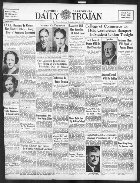 Daily Trojan, Vol. 26, No. 114, April 10, 1935