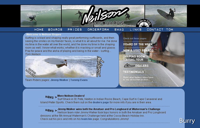 My photos in a Neilson Surfboards add!