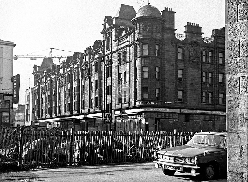 Corner of Hope St. and Cowcaddens, the McConnell building.