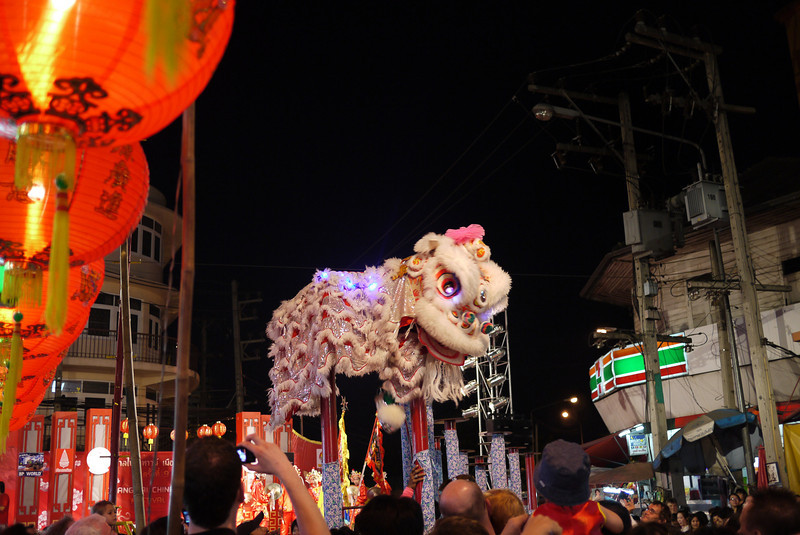 Dragon at the Chinese New Year festivities in Chiang Mai, Thailand.
