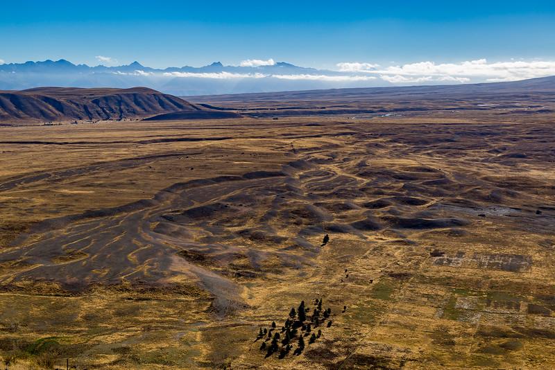 Blick vom Observatorium auf dem «Mount John»