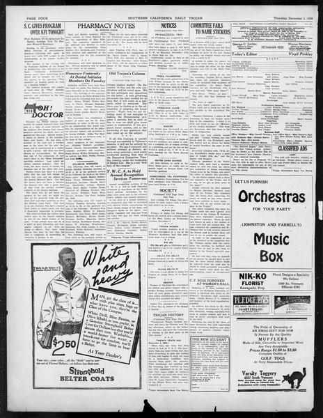 Daily Trojan, Vol. 18, No. 53, December 02, 1926