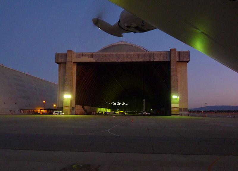 Night view of Airship Hangar 2.