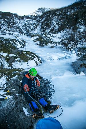 Whittier Ice Climbing 11/19/17