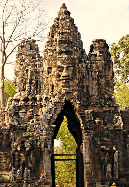 South Gate to Angkor Thom, Cambodia