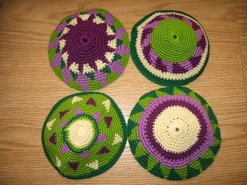 Each guest's kippah (yarmulke) was hand-made in Guatemala by friends of the groom