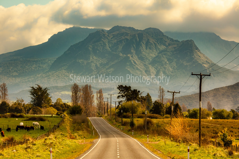 Rural rugged mountainous countryside of Ruatoria New Zealand
