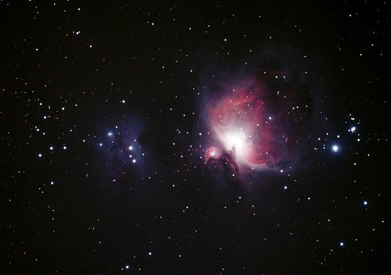 Messier M42 - NGC1976 - Orion Nebula & NGC1977 Running Man Nebula - 30/10/2013 (Processed cropped stack)