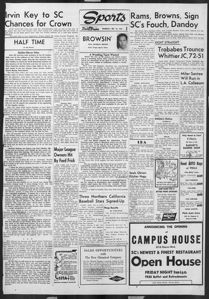 Daily Trojan, Vol. 46, No. 74, February 10, 1955