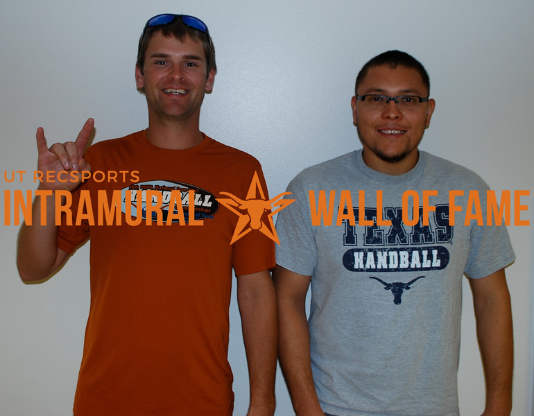 "HANDBALL Men's Doubles Champions  Marshall Zurovec and Guillermo ""Memo"" Pallares"