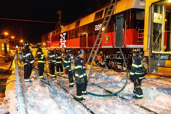 Train Locomotive on fire - Poughkeepsie Train Station - City of Poughkeepsie  FD - 03/15/2017