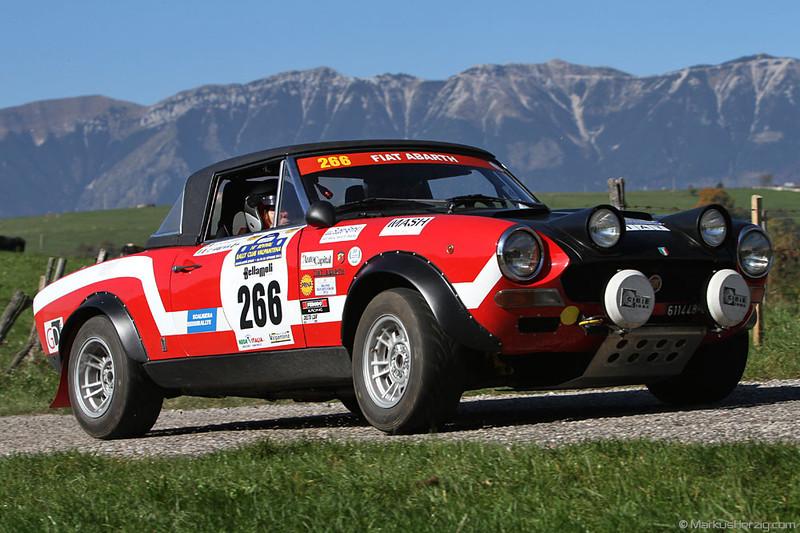 Fiat 124 Abarth - Claudio Arena ITA @ Revival Rallye Valpantena Italy 20Oct12