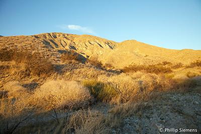Hiking PCT to Whitewater Canyon, Jan 2011