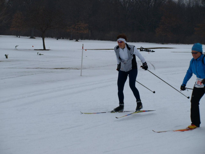 Lavinia Raffoul in the grey vest: First time racer!