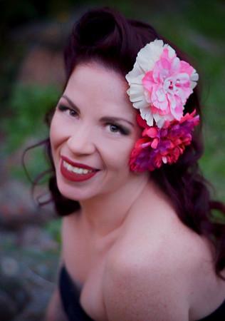 Model: Onyx deVille - Melbourne, Australia   Hair Flowers: Hellcat Hardwear - Austin, Texas