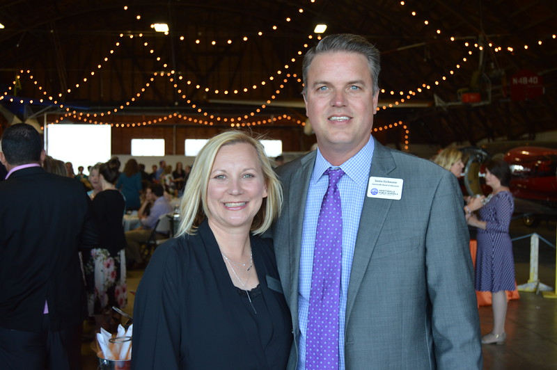 Sara Eichmann (Fayetteville Public Schools Foundation Board President), Justin Eichmann (President of the Fayetteville Board of Education) 1.JPG
