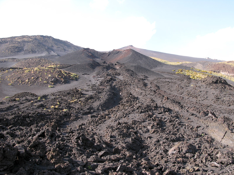 Magma Flow from a cinder cone