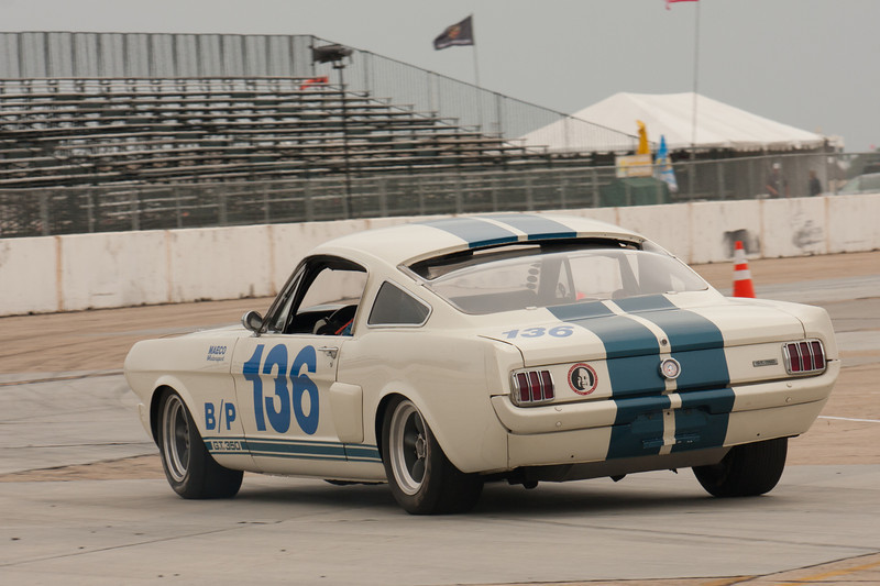 Jim Francies enters turn eleven in his 1966 Shelby GT350.