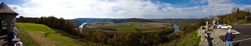 The view from the Twin Cuts scenic overlook near Towanda, PA.  The Susquehanna River is below.