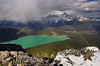 """""""Rainbow Over Hector Lake"""" - Scenes from a rare ascent of Pulpit Peak, Banff National Park, Alberta, Canada."""