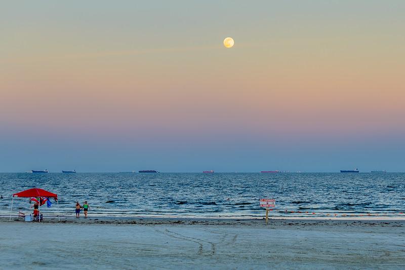 Full Moon Over Galveston...Galveston, TX