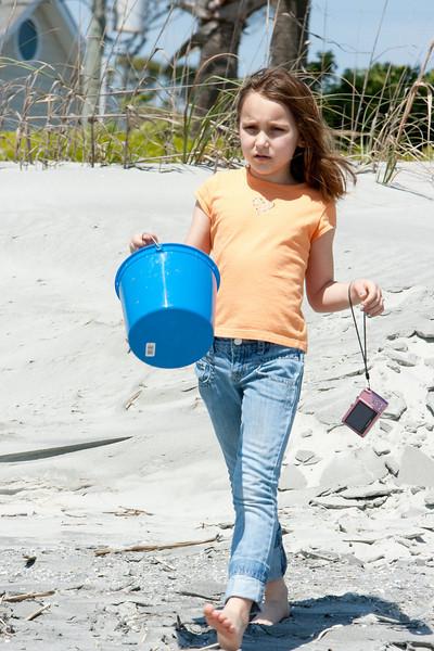Arayana gets a bucket.