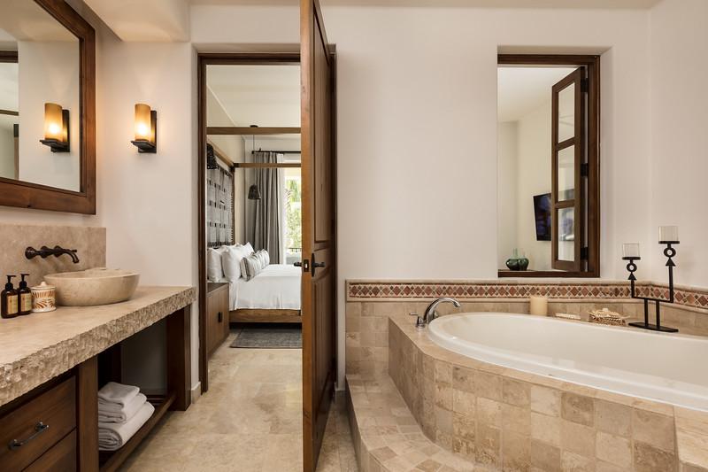 Bathroom, Auberge Private Residences at Esperanza; Los Cabos, Mexico
