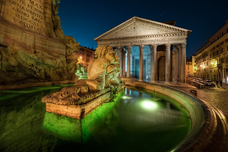 This photo of the fountain in front of Pantheon is one of my favorites, from my trip to Rome. At first I didn't see it, but when I got close, this acid green color showed up. I when a bit closer, and I could see there was a shape in the water, and I went even closer to get this. And believe me, that color is as good as straight out of the camera.--Jacob Surlandwww.caughtinpixels.comArt sale as limited prints. Photo by Jacob Surland, Licensed Creative Commons non-commercial v4.0. No Derivative Work. Protected by Pixsy.com.