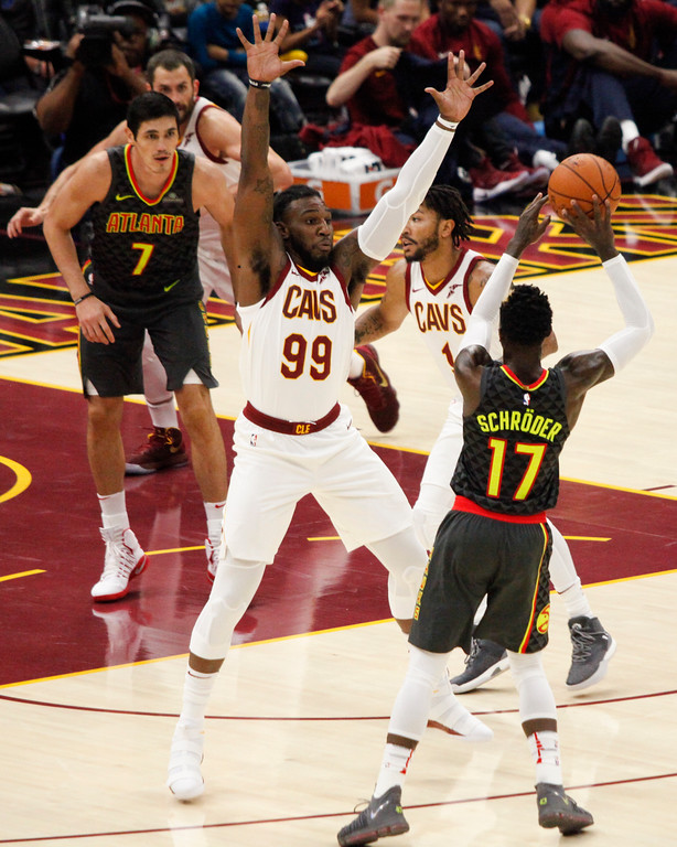. Jenna Miller - The News-Herald Scenes from the Cavaliers-Hawks game on Oct. 4 at Quicken Loans Arena.